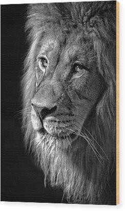 Portrait Of A King Wood Print