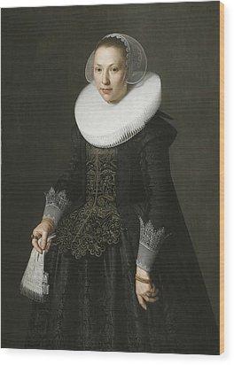 Portrait Of A Lady Wood Print by Nicolaes Eliasz
