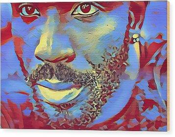 Portrait Of A Man Of Color Wood Print