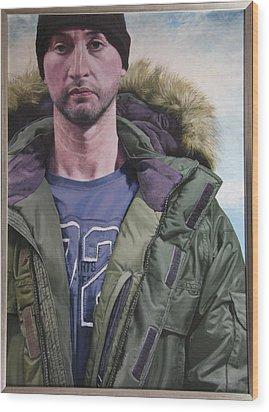 Portrait Of A Mountain Walker. Wood Print by Harry Robertson