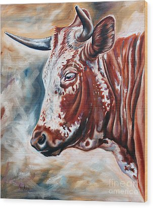 Portrait Of A Nguni Wood Print by Ilse Kleyn
