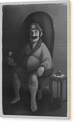 Portrait Of A Plumber Wood Print by Michael Myers