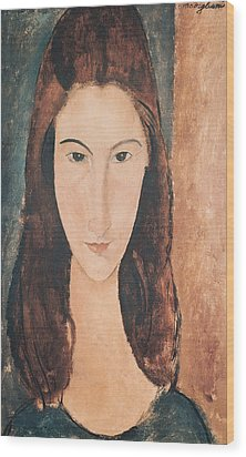 Portrait Of A Young Girl Wood Print by Amedeo Modigliani