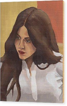 Portrait Of Amelia Wood Print