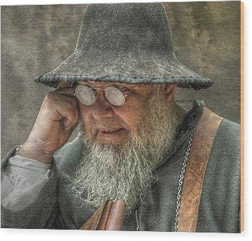 Portrait Of An Old Man Wood Print by Randy Steele