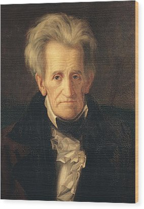 Portrait Of Andrew Jackson Wood Print by George Peter Alexander Healy