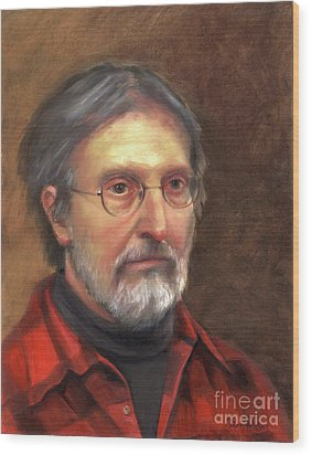 Portrait Of Barry Wood Print by Terri  Meyer