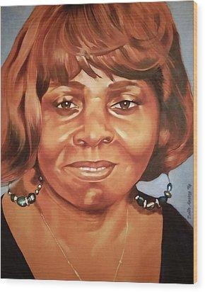 Portrait Of Chelsea Batty Wood Print