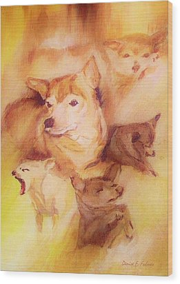Portrait Of Chi Chi Wood Print by Denise Fulmer