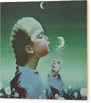 Portrait Of Daughter Wood Print by Andrej Vystropov