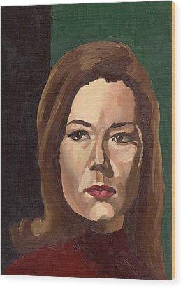 Portrait Of Diana  Wood Print