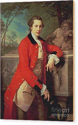 Portrait Of Edmund Rolfe Wood Print by Pompeo Girolamo Batoni