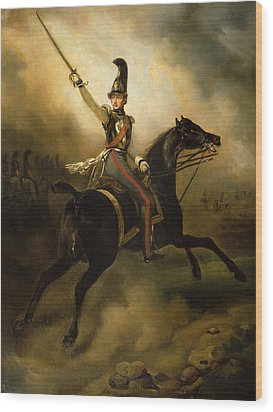 Portrait Of Friedrich Heinrich Wood Print by Emile Jean Horace Vernet