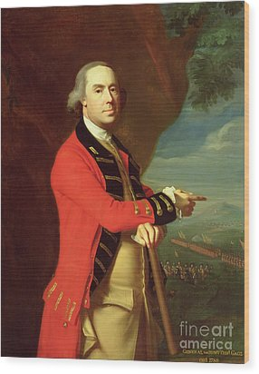 Portrait Of General Thomas Gage Wood Print by John Singleton Copley