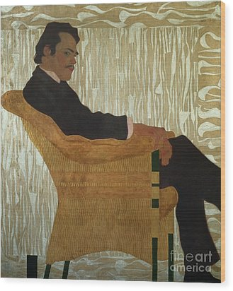 Portrait Of Hans Massmann Wood Print by Egon Schiele