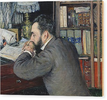 Portrait Of Henri Cordier Wood Print by Gustave Caillebotte