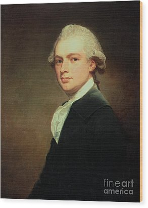 Portrait Of Henry Russell Wood Print by George Romney