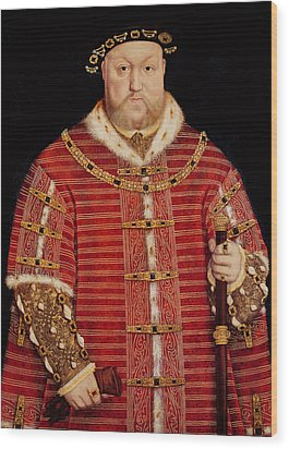 Portrait Of Henry Viii Wood Print by Hans Holbein the Younger