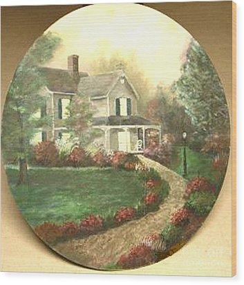 Portrait Of Home Wood Print by Nicholas Minniti