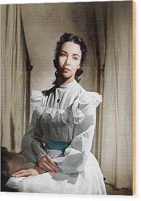 Portrait Of Jennie, Jennifer Jones, 1948 Wood Print by Everett
