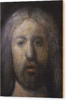 Portrait Of Jesus Christ Detail Wood Print by Derek Van Derven