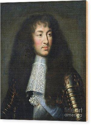 Portrait Of Louis Xiv Wood Print by Charles Le Brun
