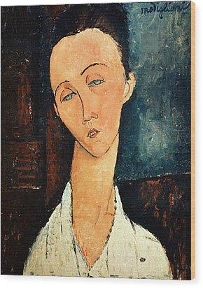 Portrait Of Lunia Czechowska Wood Print by Amedeo Modigliani