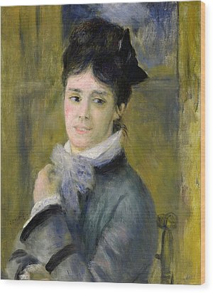 Portrait Of Madame Claude Monet Wood Print by Renoir