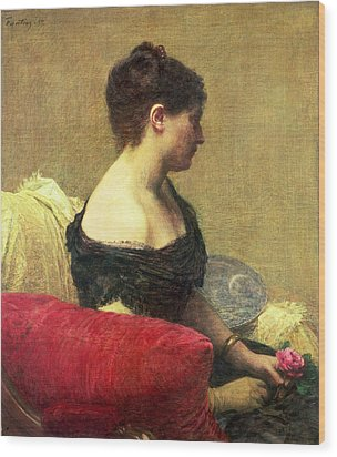 Portrait Of Madame Maitre Wood Print by Ignace Henri Jean Fantin Latour