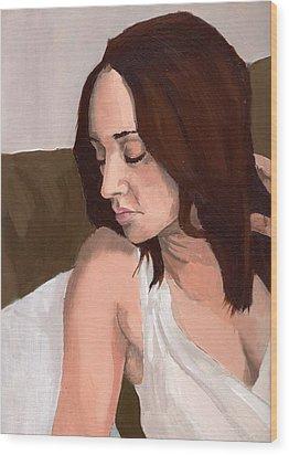 Portrait Of Nikitah Wood Print