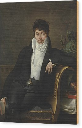 Portrait Of Pierre-jean-george Cabanis Wood Print by Merry-Joseph Blondel