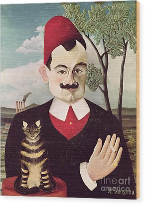 Portrait Of Pierre Loti Wood Print by Henri Rousseau