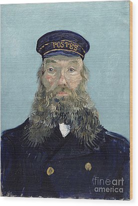 Portrait Of Postman Roulin Wood Print by Vincent van Gogh
