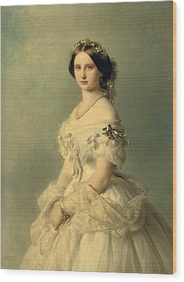 Portrait Of Princess Of Baden Wood Print by Franz Xaver Winterhalter
