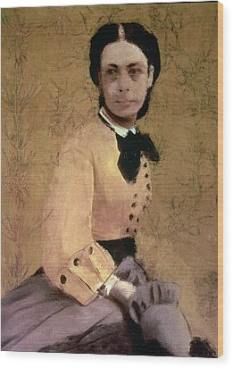 Portrait Of Princess Pauline De Metternich Wood Print by Edgar Degas