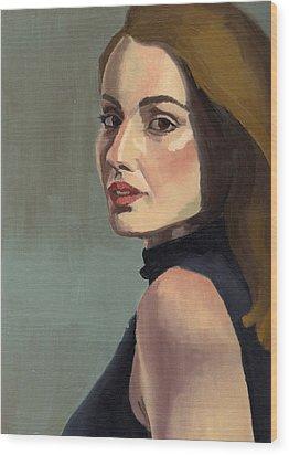 Portrait Of Rachel Christine Wood Print