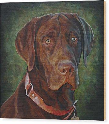 Portrait Of Remington 0094_2 Wood Print