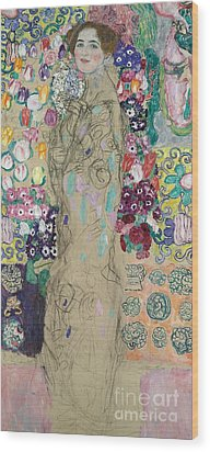 Portrait Of Ria Munk IIi Wood Print by Gustav Klimt