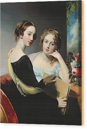 Portrait Of The Mceuen Sisters Wood Print by Thomas Sully