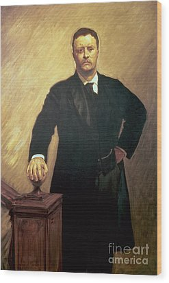 Portrait Of Theodore Roosevelt Wood Print by John Singer Sargent