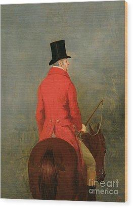 Portrait Of Thomas Cholmondeley Wood Print by Henry Calvert