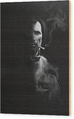 Portrait Of Tom Crean Antarctic Explorer Wood Print