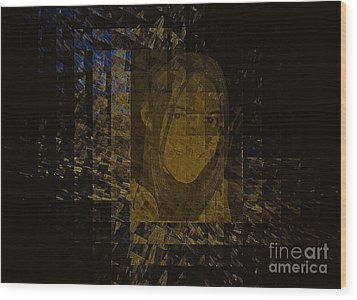 Portrait Reflection From Fresnel Prisms Wood Print by Viktor Savchenko