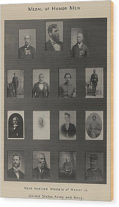 Portraits Of 15 African American Wood Print by Everett
