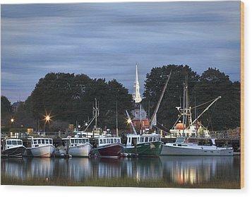 Portsmouth Fish Pier Wood Print