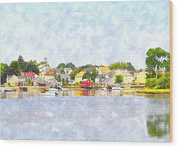 Portsmouth Nh South End Psewc Wood Print