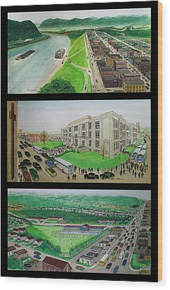 Portsmouth Ohio 1955 Wood Print