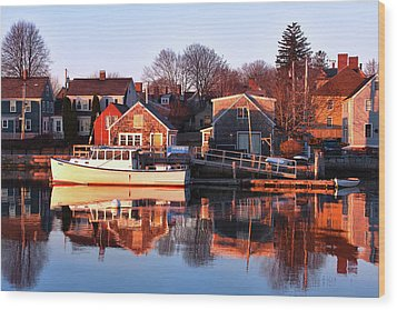 Portsmouth South End Sunrise Wood Print