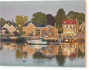 Wood Print featuring the photograph Portsmouth South End Waterfront by Susan Cole Kelly