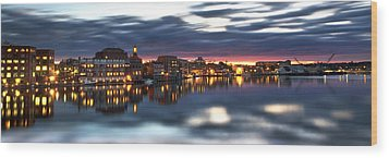 Portsmouth Waterfront Panorama Wood Print